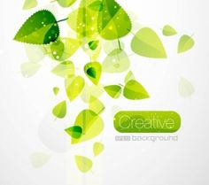 Stay Creative - Spring Green Leaves Vector @freebievectors