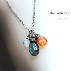 The Equinox   Labradorite Moonstone and Sunstone by Mayahelena, $62.00