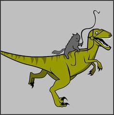 Cat Commandeering Raptor Shirt – The Oatmeal Jurassic Park, Crazy Cat Lady, Crazy Cats, T Rex, I Love Cats, Kitty, Cute, Shirts, Dinosaurs