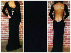 Reese Black Open Back Maxi Dress Long Sleeve│Andy Boutique Womens Shopping www.andyboutique.com