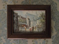 Small French Impressionist Painting Vintage Paris Oil On Board Paris Street Scene Notre Dame Signed Art