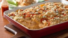 Chicken and Three-Cheese Potato Casserole recipe from Betty Crocker