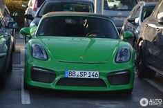 Porsche 981 Boxster Spyder in Essen, Germany Spotted on by JJH Boxster Spyder, Porsche Boxster, Luxury Cars, Cool Cars, Super Cars, Uae, Vehicles, Colors, Fancy Cars