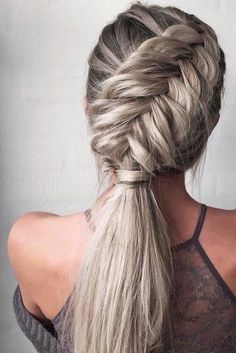 40 Trendy Braided Hairstyles For Long Hair To Look Amazingly Awesome;Beautiful prom hairstyles long hairstyles for teens. hairstyles 2018 40 Trendy Braided Hairstyles For Long Hair To Look Amazingly Awesome Teen Hairstyles, Wedding Hairstyles For Long Hair, Braids For Long Hair, Ponytail Hairstyles, Pretty Hairstyles, Hairstyles 2018, Braided Ponytail, Hairstyle Ideas, Edgy Updo