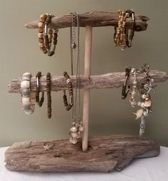 DIY Cute Driftwood jewelry Driftwood Bracelet holders organizers by ShiverMyTimber
