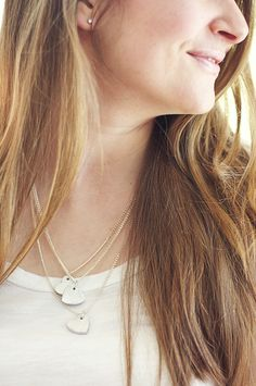 DIY: wooden heart necklace