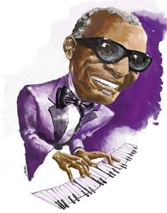 Ray Charles - CARICATURE: http://dunway.com/