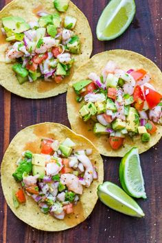 Ceviche recipe loaded with avocado, tomatoes, cucumber and cilantro; all marinated in fresh lime juice. Mexican shrimp cocktail with raw or cooked shrimp. Authentic Mexican Recipes, Mexican Shrimp Recipes, Mexican Appetizers, Shrimp Appetizers, Seafood Recipes, Cooking Recipes, Ceviche Recipe Shrimp Mexican, Cooking Tips, Mexican Desserts
