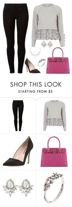 """""""women's fashion"""" by style-by-shannon-leeper ❤ liked on Polyvore featuring Dorothy Perkins, Sea, New York, SJP, Salvatore Ferragamo and Suzanne Kalan"""