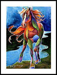 River Dance 1 Framed Print by Sherry Shipley