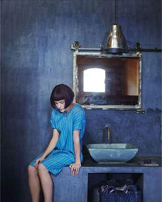 Toast House & Home march lookbook via marinagiller.com. Blue on blue