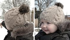 Ravelry: Flettelue med pelsdusk pattern by Marte Helgetun