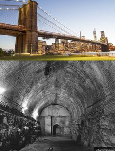 The Brooklyn Bridge has something hidden inside it!