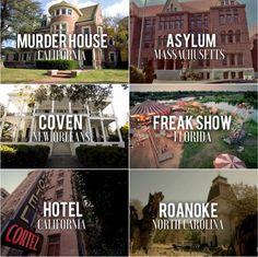 AHS: 6 Seasons + Locations.