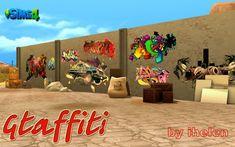 Walls: Graffiti from Ihelen Sims • Sims 4 Downloads