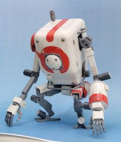 Scale model robot. Pinned by #relicmodels