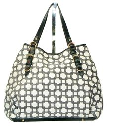Glenda Gies LILLY Purse : CHARCOAL CHENILLE CHAIN LINK