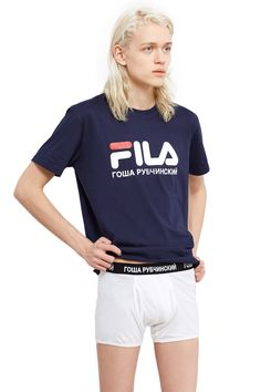 Gosha Rubchinskiy, Boxers Gosha Rubchinskiy's classic style boxer briefs sport a comfortable elasticated waistband with the brand's iconic logo., 100% cotton, Imported
