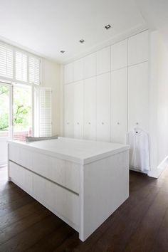 minimal white dressing room