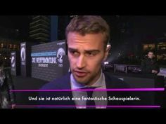 Divergent Premiere Berlin --- The way Theo talks about Shai and the way they zoom in on their faces at the end sighhhhh