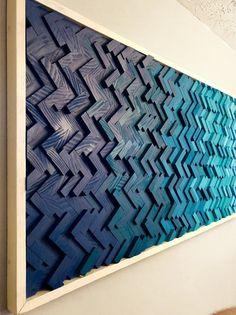 Wooden Wall Art, Wooden Walls, Thin Plywood, Plywood Art, Herringbone Pattern, Wooden Pattern, Diy Art, Wall Design, Wood Projects