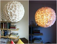 ✶ A lamp made from paper cupcake liners ✶