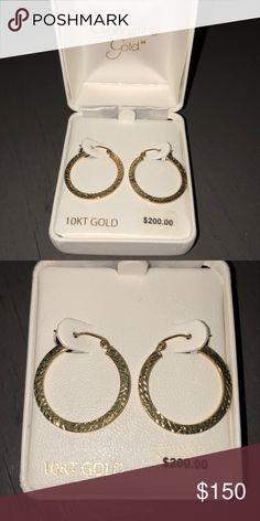 10 Karat Gold Hoops Never worn. Beautiful, simple earrings! Everlasting Gold Jewelry Earrings