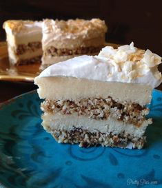 SIX incredible layers of INTENSE coconut flavor! A coconut lover's DREAM.