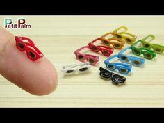 DIY How to make Miniature Sunglasses (actually works)- Petit Palm - YouTube