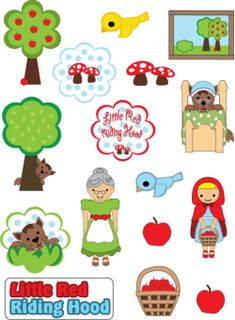 Free Printable Stickers Little Red Riding Hood