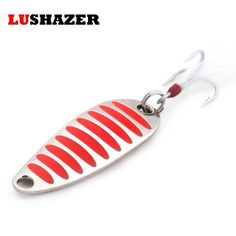 LUSHAZER brand Fishing lure spoon 2g 5g 7g 10g 15g 20g Gold/Silver fishing bait spoon hard lures metal lure China free shipping
