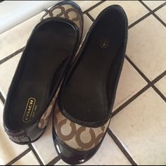 Coach shoes Coach shoes size 8 worn few times Coach Shoes Flats & Loafers