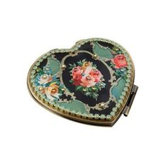 Michal Negrin Make-Up Mirror With Multicolor Swarovski Crystals And... (€74) ❤ liked on Polyvore featuring home, home decor, mirrors, fillers, accessories, mirror, stuff, beauty, victorian style home decor and floral home decor