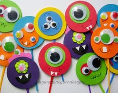 Toppers de Cupcake Party Monster monstruo por TheChicBootique