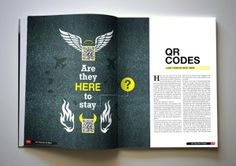 The future of food & QR Angels! by Josh Foley, via Behance