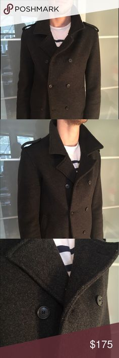 Spurr pea coat - dark gray Warm structured lightly worn pea coat- top quality- dark gray spurr Jackets & Coats Pea Coats