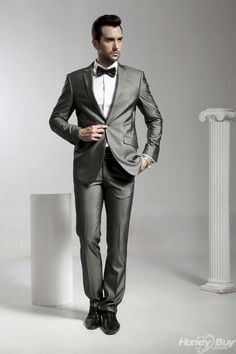 nice 69 Charming Grey Groomsmen Suits Ideas  https://viscawedding.com/2017/07/02/69-charming-grey-groomsmen-suits-ideas/
