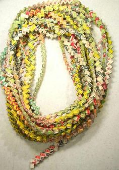 vintage woven CHEWING GUM WRAPPER CHAIN ROPE Prison Art via REFERENCE LIBRARY