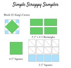 Clover & Violet — Simple Scrappy Sampler {Week 12}