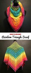 Rainbow Triangle Scarf