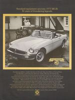MGB Golden Anniversary 1975 Ad Picture