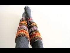 Beginner Crochet Leg Warmers:Video Tutorial and Free Pattern