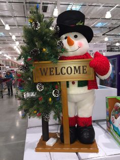 4 Foot Welcome Snowman statue that lights up Outdoor Christmas, Christmas Snowman, Christmas Diy, Xmas, Christmas Ornaments, Snowman Decorations, Christmas Decorations, Holiday Decor, Christmas Storage