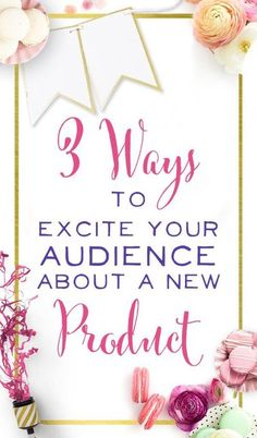 You're brilliant. Your product is fabulous. Your small business is awesome. So why aren't you getting sales? Because marketing is hard. Here are 3 ways you can get your audience pumped before you launch a product. 3 Ways To Excite Your Audience About Y Online Entrepreneur, Business Entrepreneur, Business Marketing, Business Tips, Media Marketing, Business Coaching, Online Business, Marketing Strategies, Content Marketing