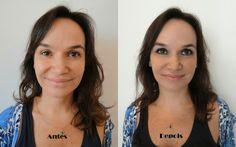 Antes e depous Auto Maquiagem
