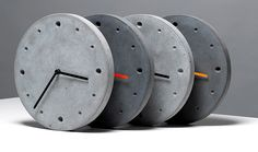 Concrete Clocks More Pins Like This At : FOSTERGINGER @ Pinterest.