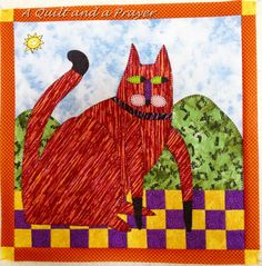 A Quilt and A Prayer: A Cat of a Different Color (but NOT Purple!!!)