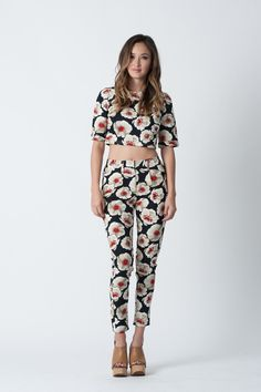 Delmar Floral Highwaisted Pants   Lucca Couture - $19.75, orig. $79