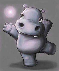 "Illustration ""Graceful Hippo"" - http://andy-mai.com/portfolio.html"