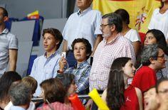 Felipe de Marichalar en el partido con Carlos Garcia-Revenga en el encuentro contra Senegal, 7/9/2014.